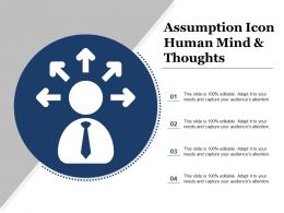 Assumption Icon Human Mind And Thoughts
