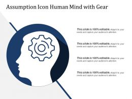 Assumption Icon Human Mind With Gear