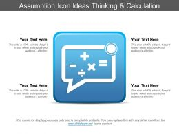 Assumption Icon Ideas Thinking And Calculation