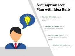 Assumption Icon Man With Idea Bulb
