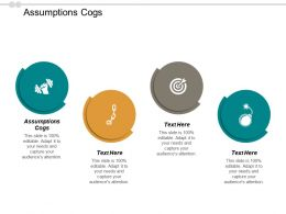 Assumptions Cogs Ppt Powerpoint Presentation Gallery Tips Cpb