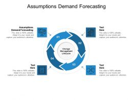 Assumptions Demand Forecasting Ppt Powerpoint Presentation Model Graphics Template Cpb