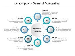 Assumptions Demand Forecasting Ppt Powerpoint Presentation Styles Tips Cpb