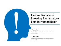 Assumptions Icon Showing Exclamatory Sign In Human Brain