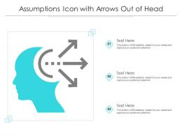 Assumptions Icon With Arrows Out Of Head