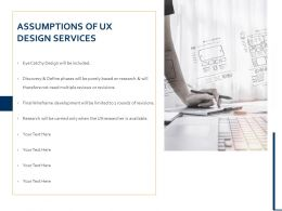 Assumptions Of UX Design Services Ppt Powerpoint Presentation Portfolio Information