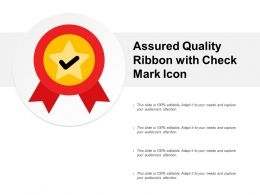 Assured Quality Ribbon With Check Mark Icon