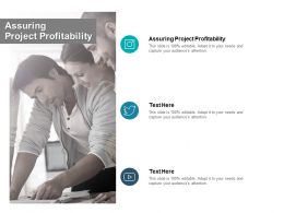 Assuring Project Profitability Ppt Powerpoint Presentation Pictures Demonstration Cpb
