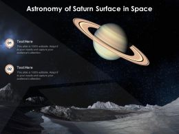 Astronomy Of Saturn Surface In Space
