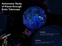 Astronomy Study Of Planet Through Solar Telescope