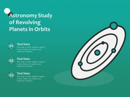 Astronomy Study Of Revolving Planets In Orbits