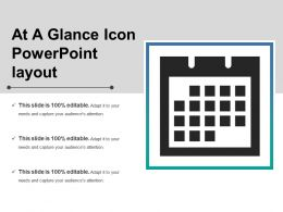 At A Glance Icon Powerpoint Layout