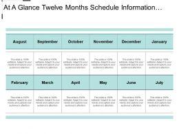 at_a_glance_twelve_months_schedule_information_text_boxes_Slide01