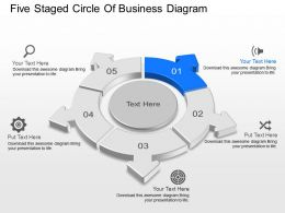 At Five Staged Circle Of Business Diagram Powerpoint Template Slide