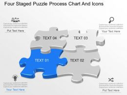 at Four Staged Puzzle Process Chart And Icons Powerpoint Template