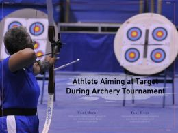 Athlete Aiming At Target During Archery Tournament