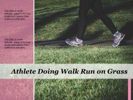 Athlete Doing Walk Run On Grass
