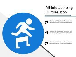 Athlete Jumping Hurdles Icon