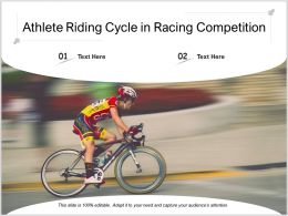 Athlete Riding Cycle In Racing Competition