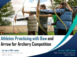 Athletes Practicing With Bow And Arrow For Archery Competition
