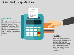 Atm Card Swap Machine Flat Powerpoint Design
