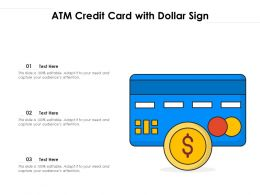 ATM Credit Card With Dollar Sign