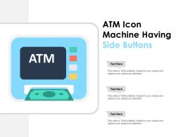 Atm Icon Machine Having Side Buttons