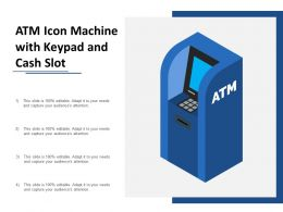 Atm Icon Machine With Keypad And Cash Slot