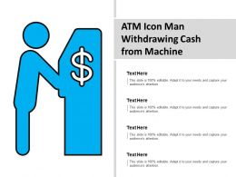 Atm Icon Man Withdrawing Cash From Machine