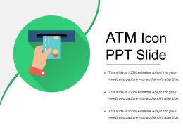 Atm Icon Ppt Slide