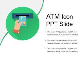Atm Icon Ppt Slide