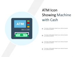 Atm Icon Showing Machine With Cash