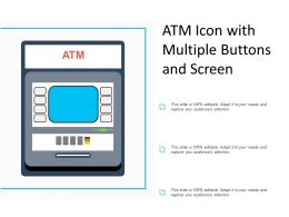 Atm Icon With Multiple Buttons And Screen