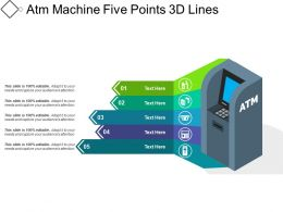 Atm Machine Five Points 3d Lines