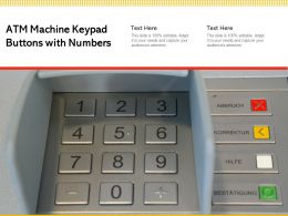 ATM Machine Keypad Buttons With Numbers