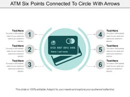 Atm Six Points Connected To Circle With Arrows