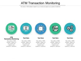 ATM Transaction Monitoring Ppt Powerpoint Presentation Visual Aids Pictures Cpb