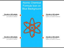 Atomic Chemical Formula Icon On Blue Background