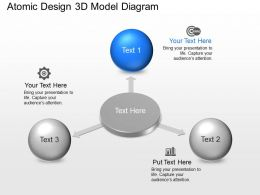 Atomic Design 3d Model Diagram Powerpoint Template Slide