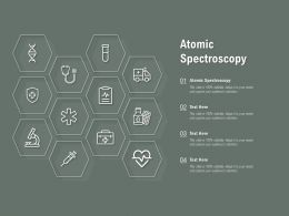 Atomic Spectroscopy Ppt Powerpoint Presentation File Clipart Images
