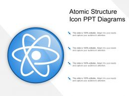 Atomic Structure Icon Ppt Diagrams