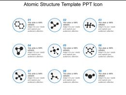 Atomic Structure Template Ppt Icon