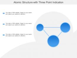 Atomic Structure With Three Point Indication