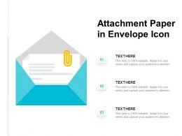 Attachment Paper In Envelope Icon