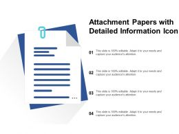 Attachment Papers With Detailed Information Icon