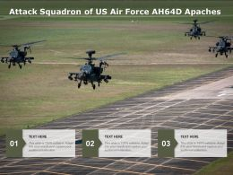Attack Squadron Of US Air Force AH64D Apaches