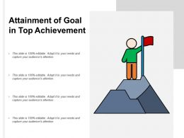 Attainment Of Goal In Top Achievement