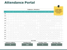 Attendance Portal Employees Ppt Powerpoint Presentation Show Mockup