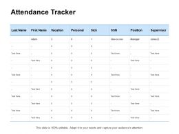 Attendance Tracker Ppt Powerpoint Presentation Portfolio Background Designs