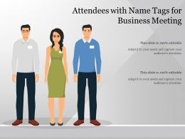 Attendees With Name Tags For Business Meeting